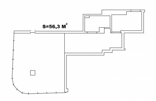 Планировки однокомнатных квартир 56.3 м^2